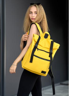 Жіночий рюкзак ролл Sambag RollTop LTT жовтий