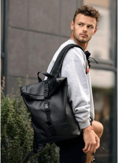 Чоловічий рюкзак ролл Sambag  RollTop KZN чорний