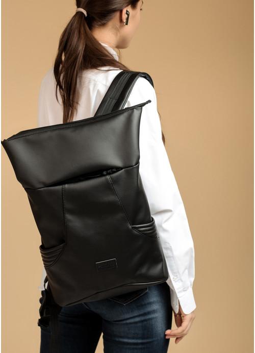 Жіночий рюкзак ролл Sambag RollTop KQN чорний