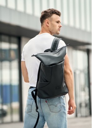 Чоловічий рюкзак ролл Sambag RollTop KQN чорний