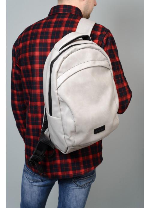 Рюкзак унісекс Sambag Zard LZN світло-сірий нубук