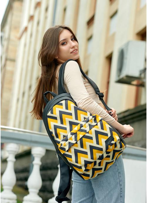 Жіночий рюкзак Sambag Zard LST чорний з орнаментом