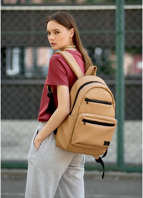 Жіночий рюкзак Sambag Zard LKT бежевий