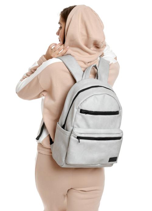 Жіночий рюкзак Sambag Zard LKT світло-сірий нубук