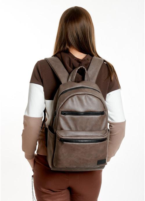 Жіночий рюкзак Sambag Zard LKT світло-коричневий нубук