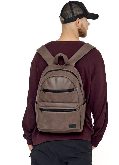 Чоловічий рюкзак Sambag Zard LKT коричневий нубук