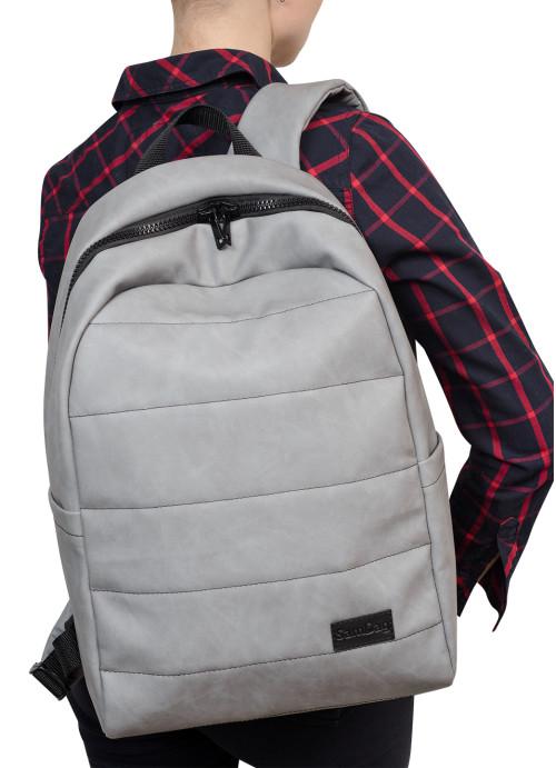Жіночий рюкзак Sambag Zard LRT світло-сірий нубук