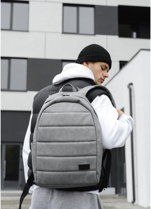 Рюкзак унісекс Sambag Zard LRTm світло-сірий нубук