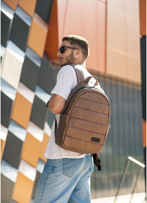 Чоловічий рюкзак Sambag Zard LRT світло-коричневий нубук