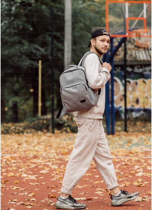 Рюкзак унісекс Sambag Zard QST світло-сірий нубук