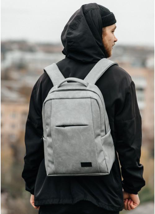 Рюкзак унісекс Sambag Zard QSH світло-сірий нубук