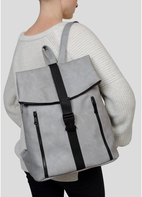 Жіночий рюкзак Sambag Rene LZT світло-сірий нубук