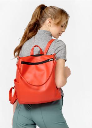 Жіночий рюкзак-сумка Sambag Trinity червоний