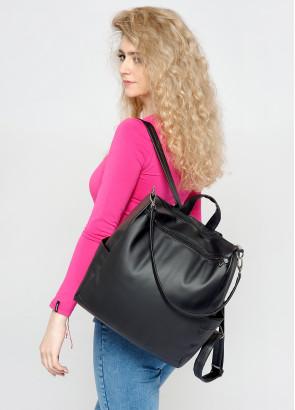 Жіночий рюкзак-сумка Sambag Trinity чорний