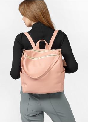 Жіночий рюкзак-сумка Sambag Trinity пудра