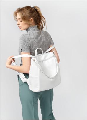 Жіночий рюкзак-сумка Sambag Trinity білий
