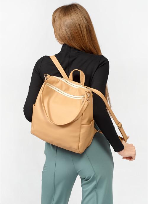 Жіночий рюкзак Sambag Trinity  MZO бежевий