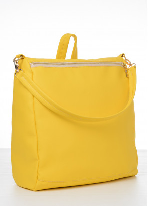 Жіночий рюкзак-сумка Sambag Trinity жовтий