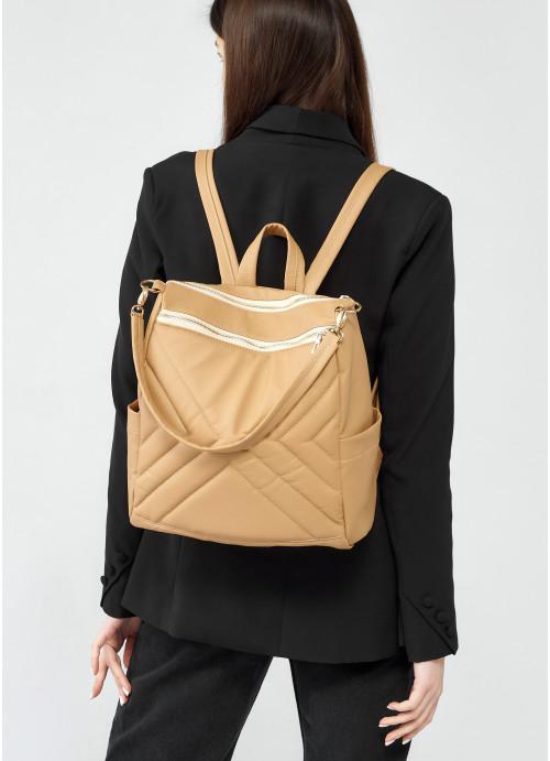 Жіночий рюкзак Sambag Trinity  MSS бежевий