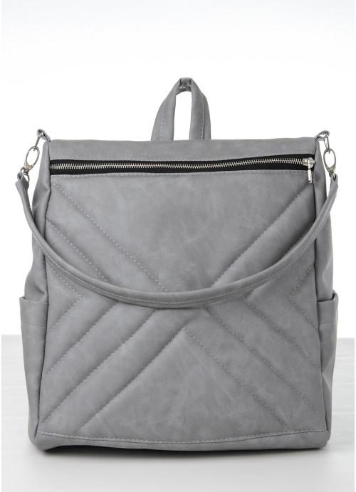 Жіночий рюкзак Sambag Trinity  MSS світло-сірий нубук