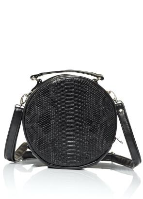 Жіноча кругла сумка Sambag Bale  MZN Принт крокодила