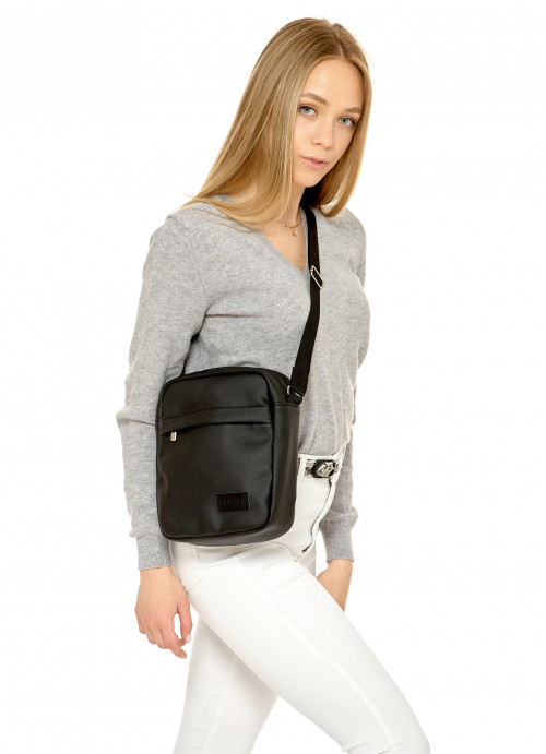 Чоловіча сумка через плече мессенджер Sambag STN чорний