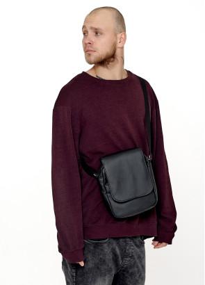 Жіноча сумка через плече мессенджер Sambag SKN чорний