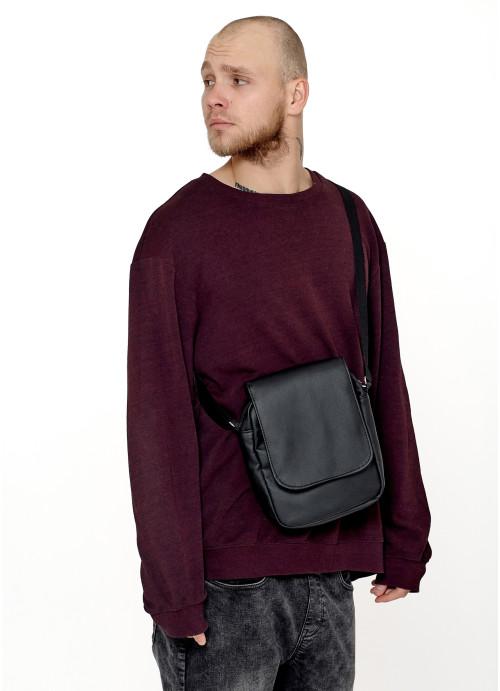 Жіноча сумка через плече мессенджер Sambag SKN чорна