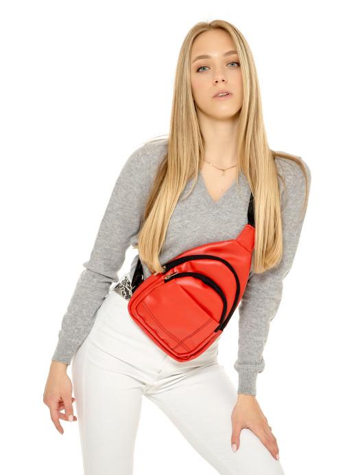 Жіноча сумка слінг через плече Sambag Brooklyn  червона