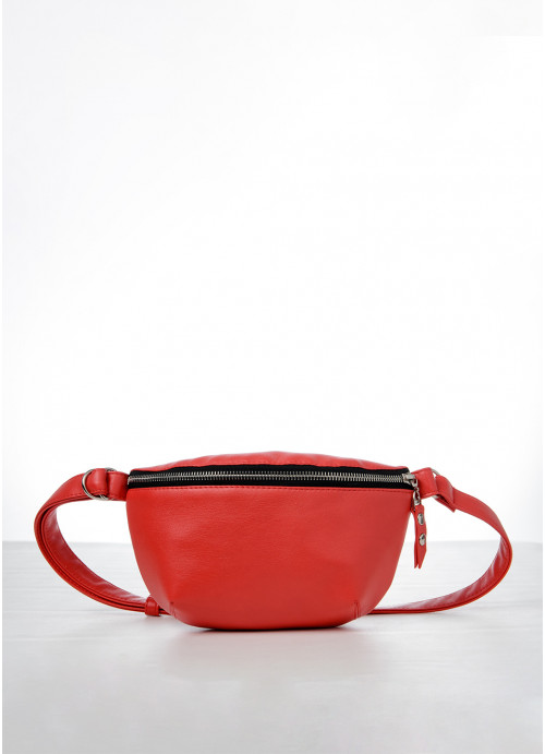 Жіноча сумка на пояс бананка Sambag Polo червона