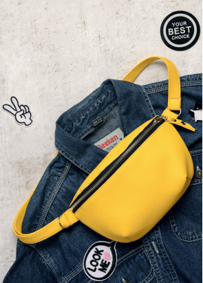 Сумка на пояс бананка Sambag Polo SQS жовтий