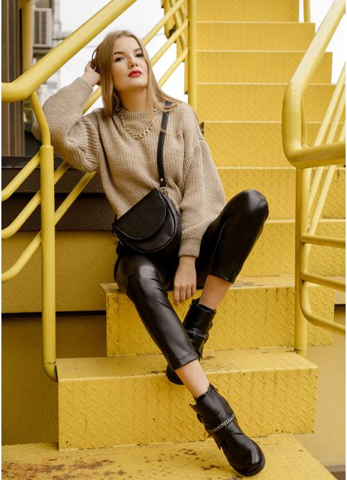 Жіноча сумка бананка кроссбоді Sambag  SKH чорний