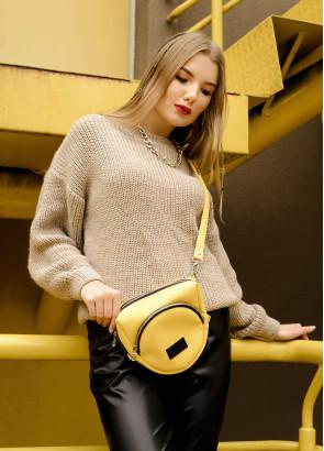 Жіноча сумка бананка кроссбоді Sambag  SGS жовтий