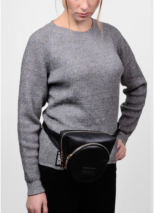 Жіноча сумка бананка кроссбоді Sambag  SGG чорний