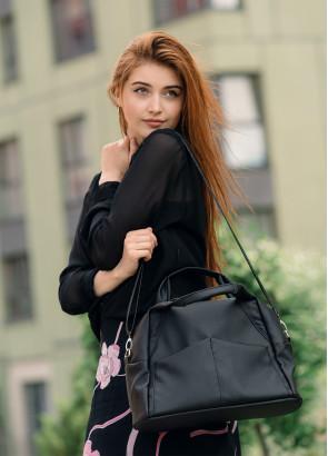 Жіноча спортивна сумка Sambag Vogue BQS чорний