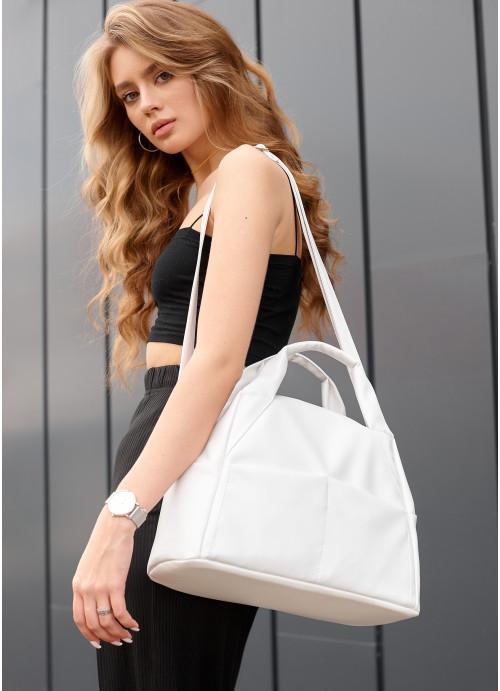 Жіноча спортивна сумка Sambag Vogue BQS білий