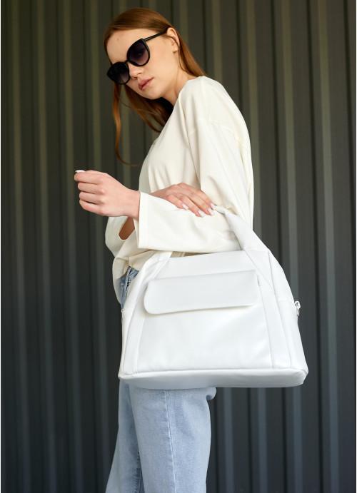 Жіноча спортивна сумка Sambag Vogue BKS біла