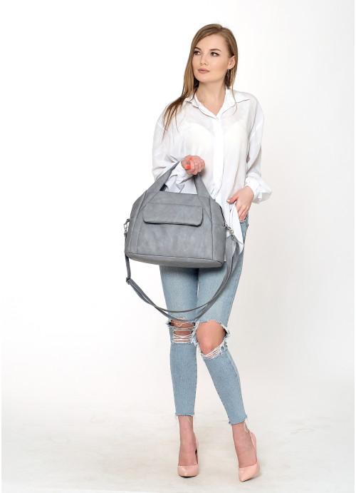 Cпортивна сумка Sambag Vogue BKS світло-сірий нубук