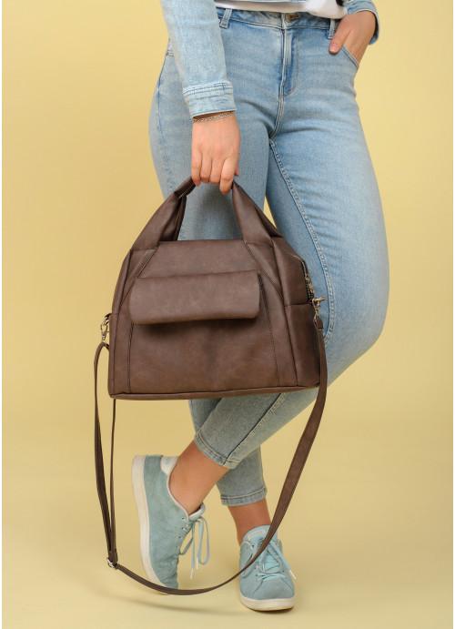 Cпортивна сумка Sambag Vogue BQS світло-коричневий нубук