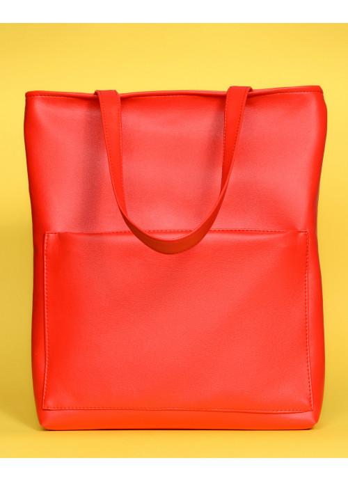 Сумка Sambag Shopper Tote SQN червоний