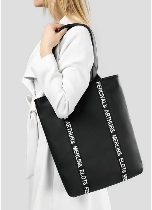 Сумка Sambag Shopper Tote STN чорний