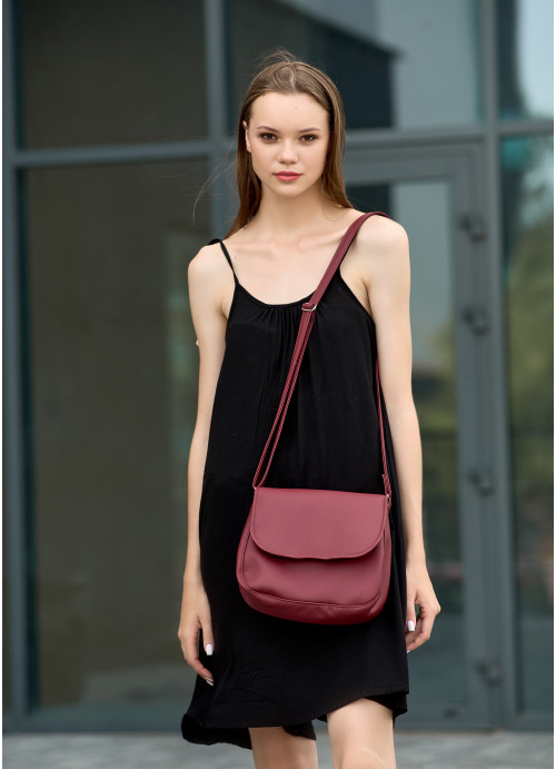 Жіноча сумка Кросбоді Sambag Rose  бордо