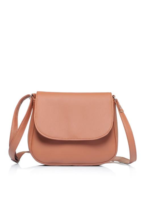 Жіноча сумка Кросбоді Sambag Rose коричнева