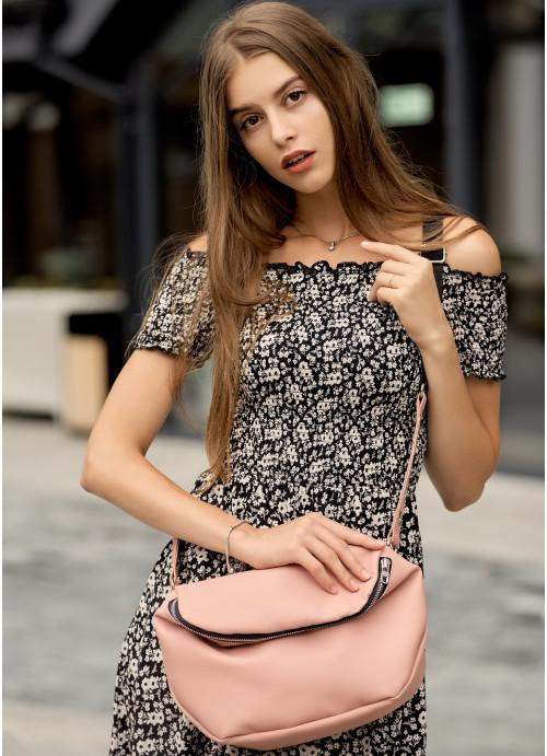 Жіноча сумка Sambag Milano QZS пудра