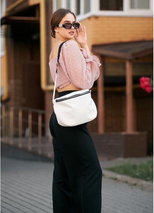 Жіноча сумка Sambag Milano QZS білий